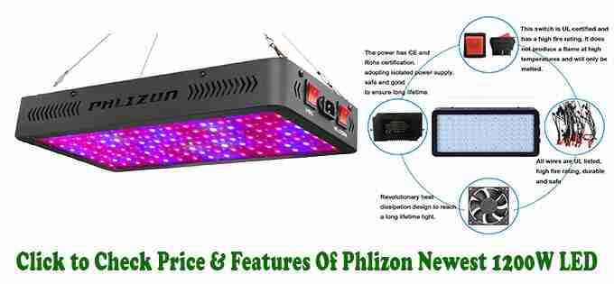 Phlizon Newest 1200W LED Grow Light Review - LED For Indoor Marijuana Growing