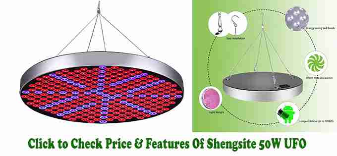 Shengsite 50W UFO LED Grow Light - Best Small LED Grow Light for Few Plants