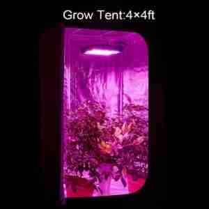 In grow tent Cover Area